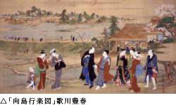 「向島行楽図」歌川豊春